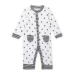 J by Jasper Conran - Designer Babies navy sleep suit and bib set