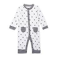 Designer Babies navy sleep suit and bib set