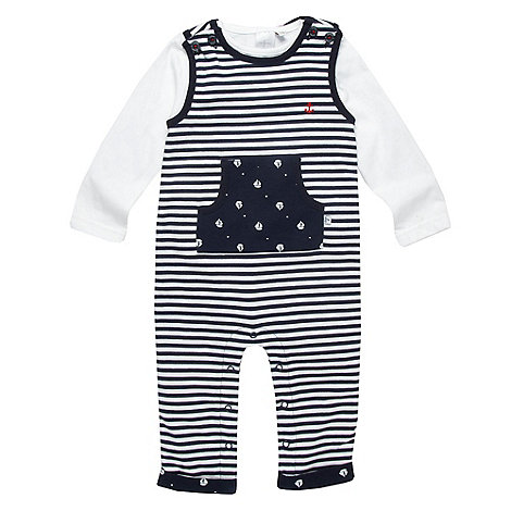 J by Jasper Conran - Designer Babies navy boat dungaree set