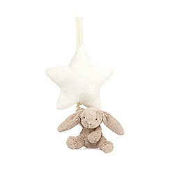 Jellycat - Beige 'Bashful' bunny and star musical pull
