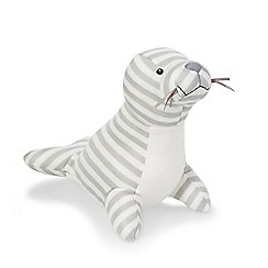 Jelly Kitten - Grey 'Shiver' seal with chime
