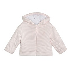 bluezoo - Baby girls' pink striped print wadded jacket