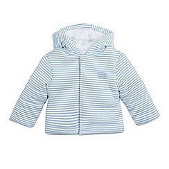 bluezoo - Baby boys' blue striped print wadded jacket