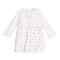 J by Jasper Conran - Girls' pink floral print mock dress