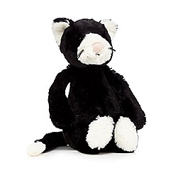 Jellycat - Black and white plush cat toy