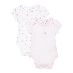 J by Jasper Conran - Pack of two baby girls' floral pink bodysuits