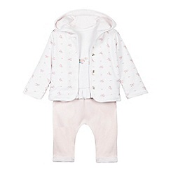 J by Jasper Conran - Baby girls' pink three piece set