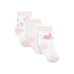 J by Jasper Conran - Pink rabbit themed socks