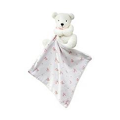 J by Jasper Conran - Baby girls' pink teddy comforter