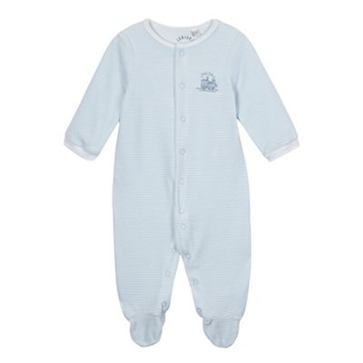 J by Jasper Conran Babies pale blue striped velour