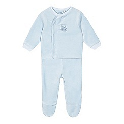 J by Jasper Conran - Babies pale blue velour top amd bottoms set