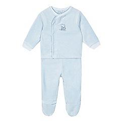 J by Jasper Conran - Babies pale blue velour top amd bottoms set