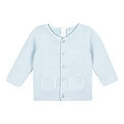 J by Jasper Conran - Baby boys' blue garter stitch cardigan