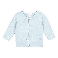 J by Jasper Conran - Baby boys' blue garter stitch cardigan