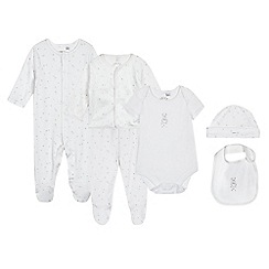 J by Jasper Conran - Designer babies white bear and star six piece set