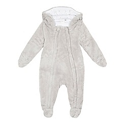 J by Jasper Conran - Baby boys' grey fleece pramsuit