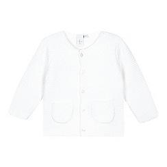 J by Jasper Conran - Babies white garter stitch cardigan