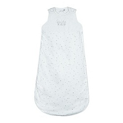 J by Jasper Conran - Babies white bear and star sleepsuit bag