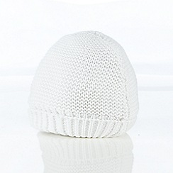 J by Jasper Conran - Babies white knitted cap and booties set