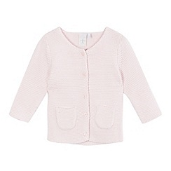 J by Jasper Conran - Baby girls' pink textured cardigan
