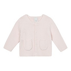 J by Jasper Conran - Baby girls' light pink knitted cardigan