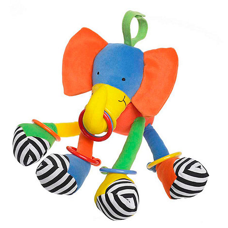 Jellycat - Babies multi hoopy loopy elephant toy
