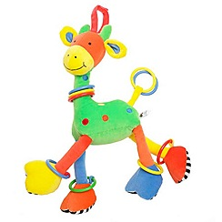 Jelly Cat - Babies multi hoopy loopy giraffe toy