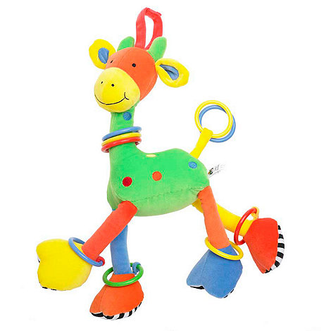 Jellycat - Babies multi hoopy loopy giraffe toy