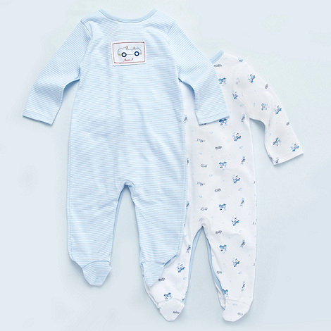 J by Jasper Conran - Designer Babies pack of two transport baby grows