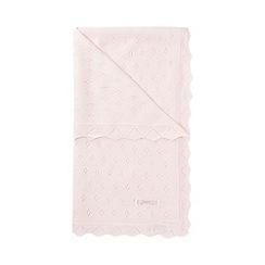 J by Jasper Conran - Designer Babies pale pink knitted blanket