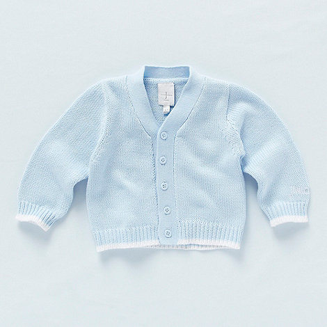 J by Jasper Conran - Designer Babies pale blue knitted cardigan