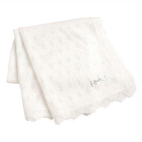 J by Jasper Conran - Designer Babies white knitted blanket
