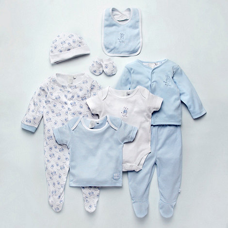 J by Jasper Conran - Designer Babies pale blue eight-piece sleeping set