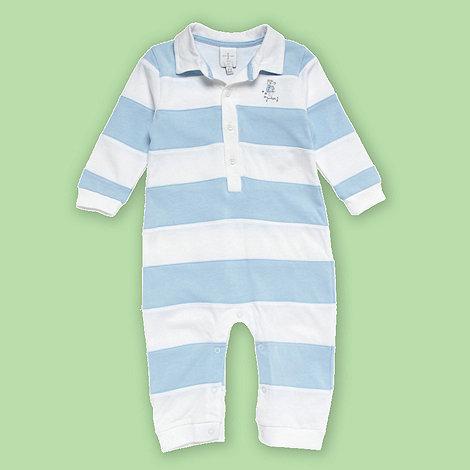 J by Jasper Conran - Designer Babies light blue and white stripe romper suit