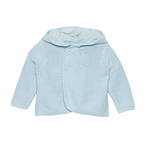 J by Jasper Conran - Designer babies pale blue hooded cardigan