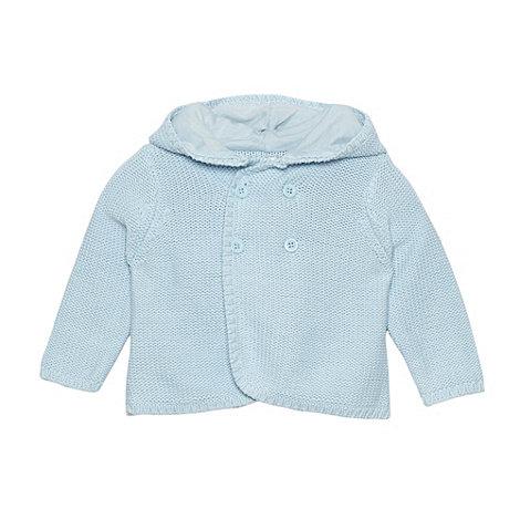 J by Jasper Conran - Designer babies pale blue hooded cardigan