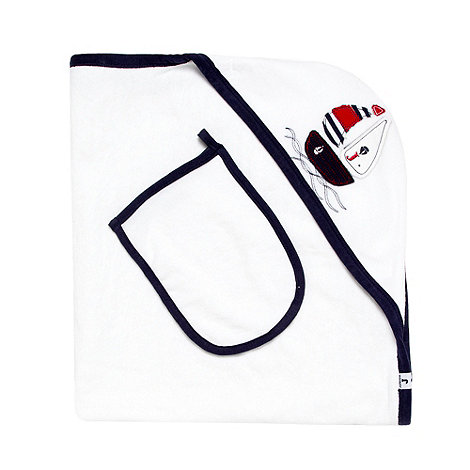 J by Jasper Conran - Designer white Babies towel and mitt set