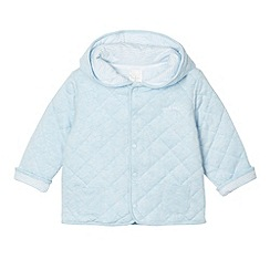 J by Jasper Conran - Designer babies pale blue quilted sweat jacket