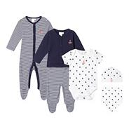 Designer babies navy six piece set