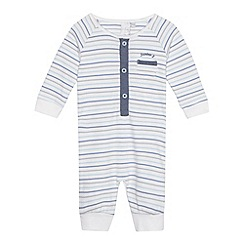 J by Jasper Conran - Designer babies white striped sleepsuit