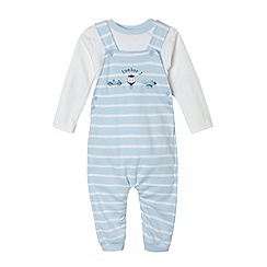 J by Jasper Conran - Designer babies pale blue balloon bibshorts set