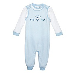 J by Jasper Conran - Designer babies blue playsuit and dungarees set