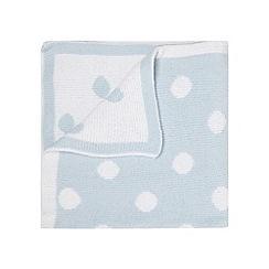 J by Jasper Conran - Designer babies pale blue spotted chenille blanket