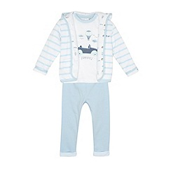 J by Jasper Conran - Designer babies pale blue balloon printed three piece set