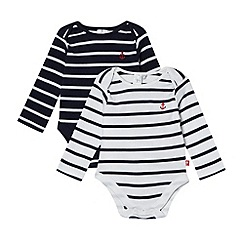 J by Jasper Conran - Designer pack of two babies navy bodysuits