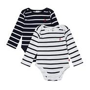 Designer pack of two babies navy bodysuits