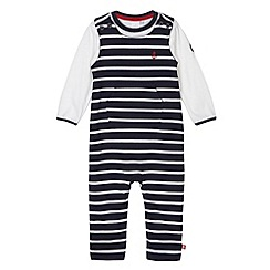 J by Jasper Conran - Designer babies navy striped dungarees set