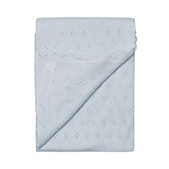 J by Jasper Conran - Designer babies light blue pointelle knit blanket
