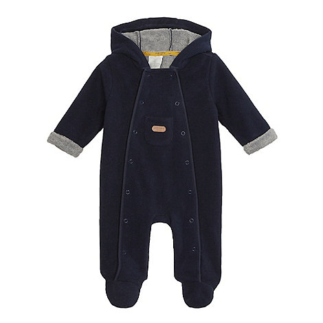 J by Jasper Conran - Designer babies navy bonded fleece all in one