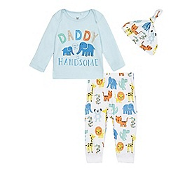 bluezoo - Baby boys' blue elephant print pyjama set